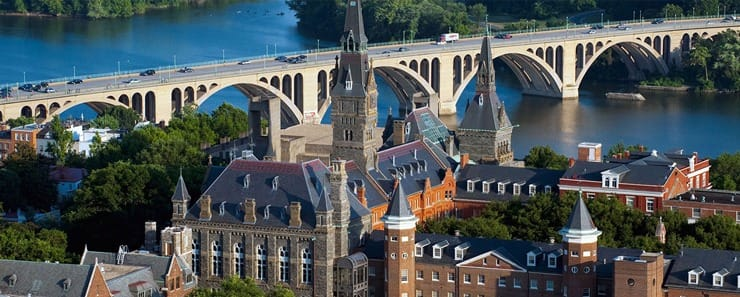 Photo of Georgetown University campus