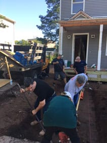 Connex Employees Volunteering for Habitat for Humanity