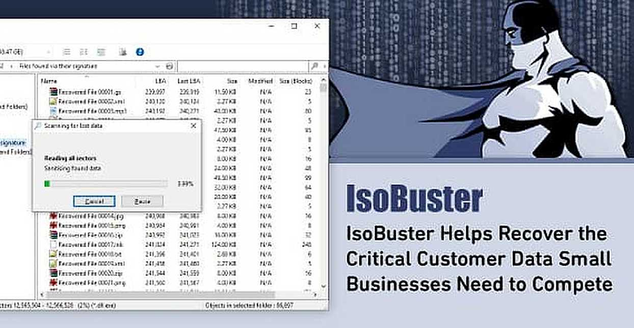 IsoBuster Helps Recover the Critical Customer Data Small Businesses Need to Compete