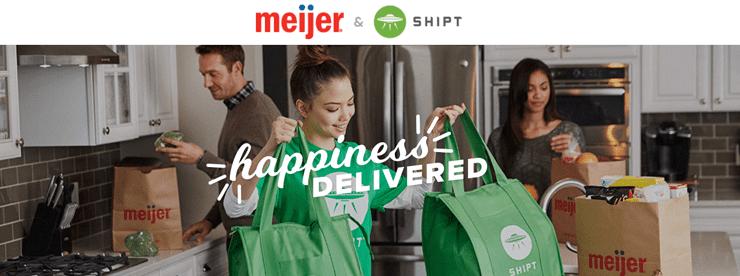 Screenshot of Meijer and Shipt partnership