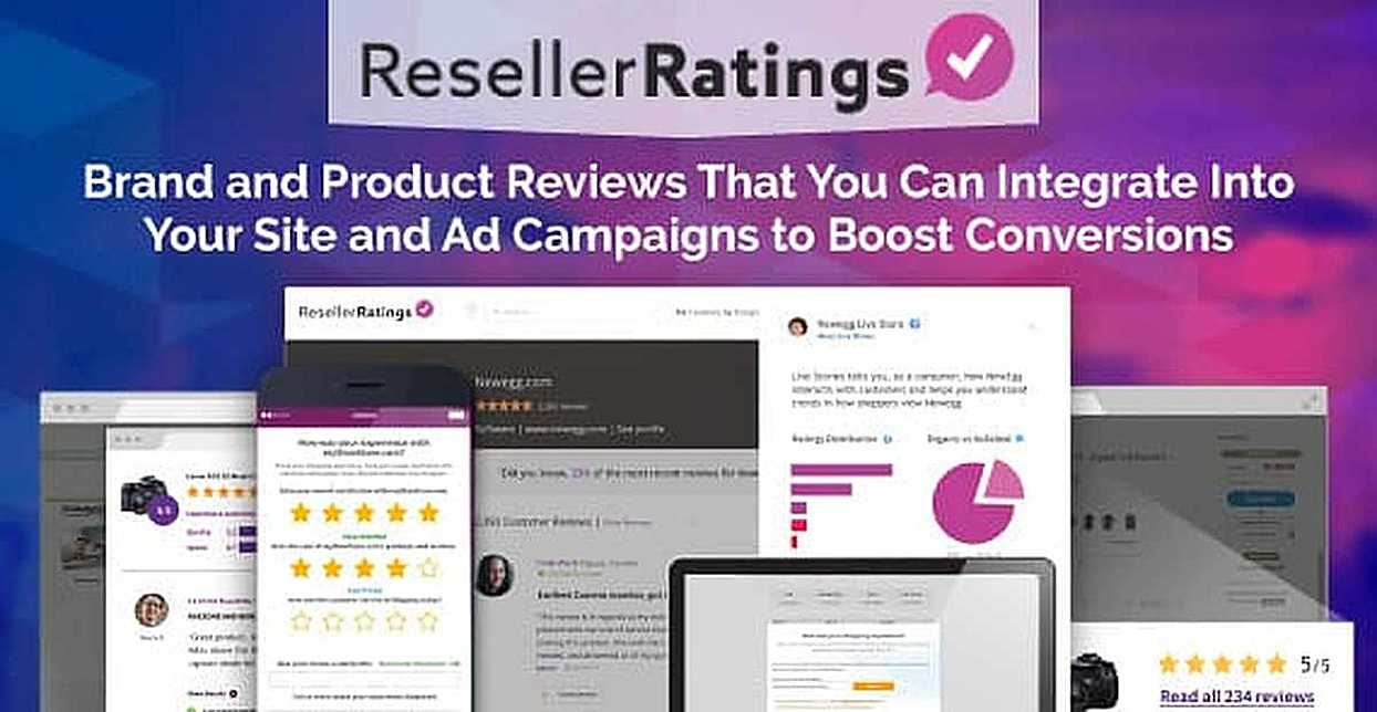 ResellerRatings: Brand and Product Reviews That You Can Integrate Into Your Site and Ad Campaigns to Boost Conversions