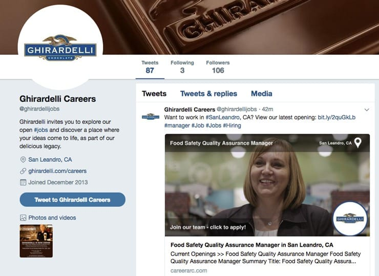 Screenshot of CareerArc Social Media Recruiting on Facebook