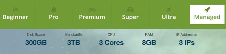 Screenshot of WebHostingPad VPS Depot offerings