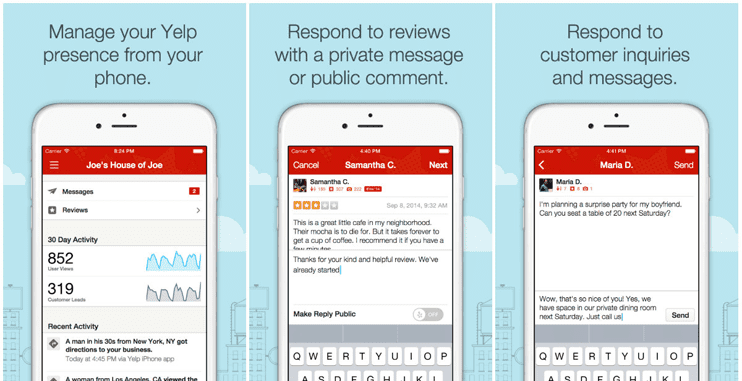 Photo of Yelp mobile tools for businesses