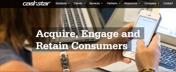 Screenshot of the CashStar Marketing landing page