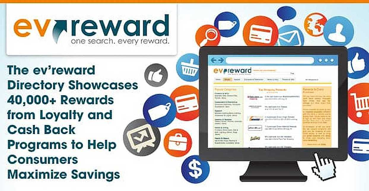 The ev'reward Directory Showcases 40,000+ Rewards from Loyalty and Cash Back Programs to Help Consumers Maximize Savings