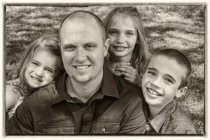 Kyle James & kids