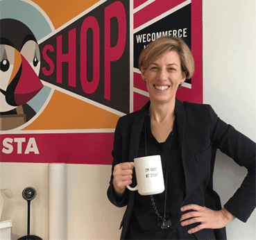 Portrait of Leah Anathan, Chief Marketing Officer for PrestaShop