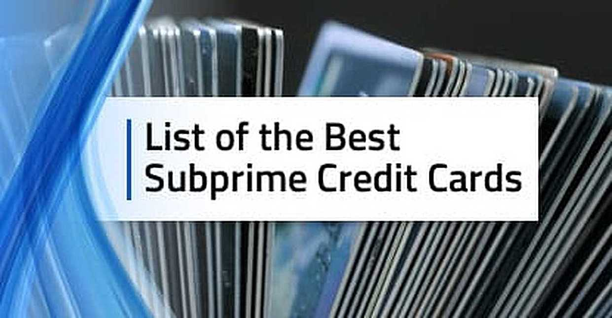 [current_year]'s List of Subprime Credit Cards