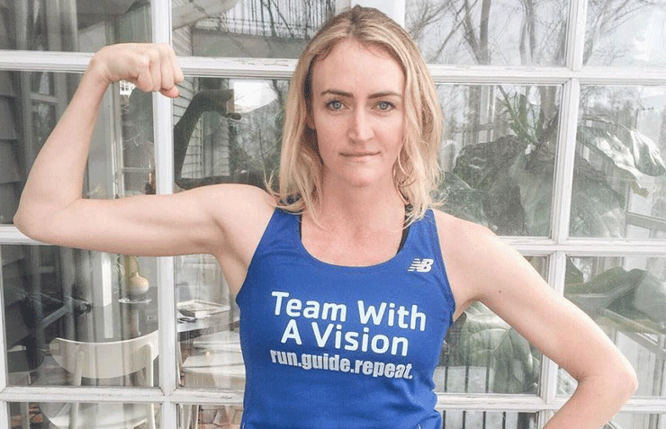 Photo of Heather before running the Team With A Vision race