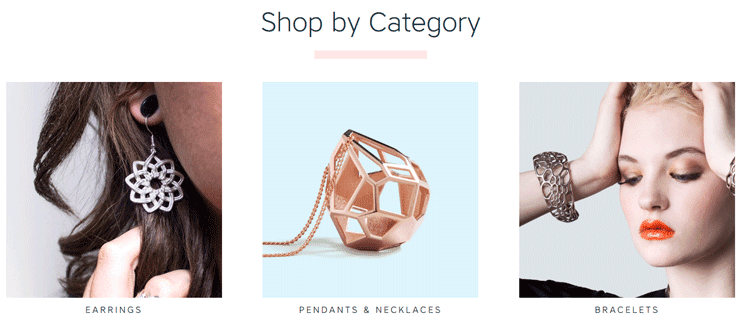 Screenshot from the Shapeways marketplace