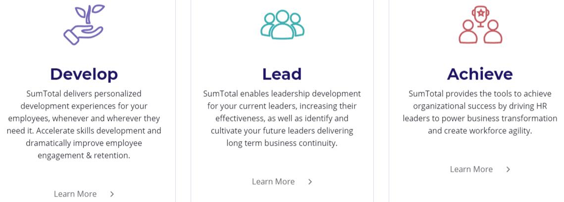 SumTotal Screenshot
