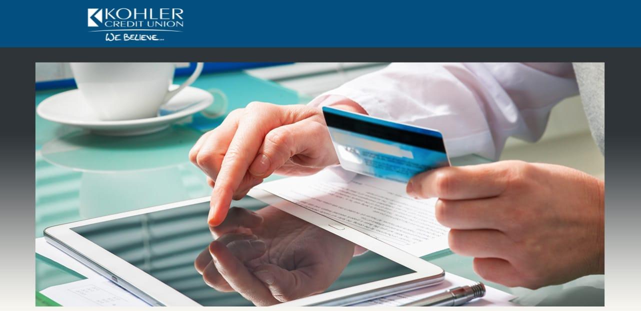 Screenshot of Kohler Credit Union website
