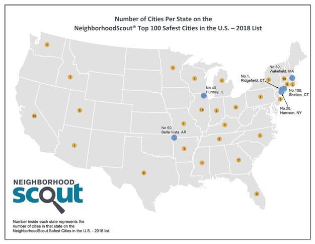 Safest Cities Map