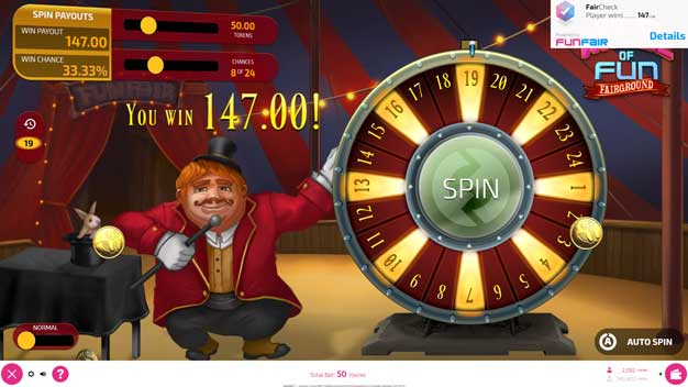 FunFair Game Wheel of Fun