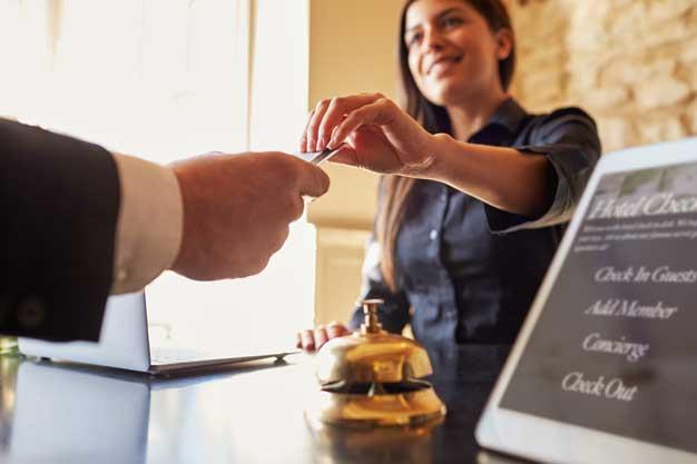 Hotel Desk Photo