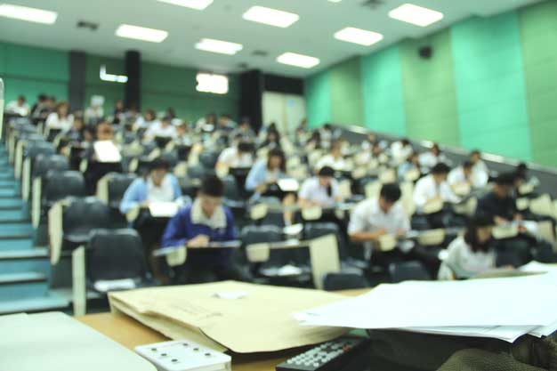 Students in Background