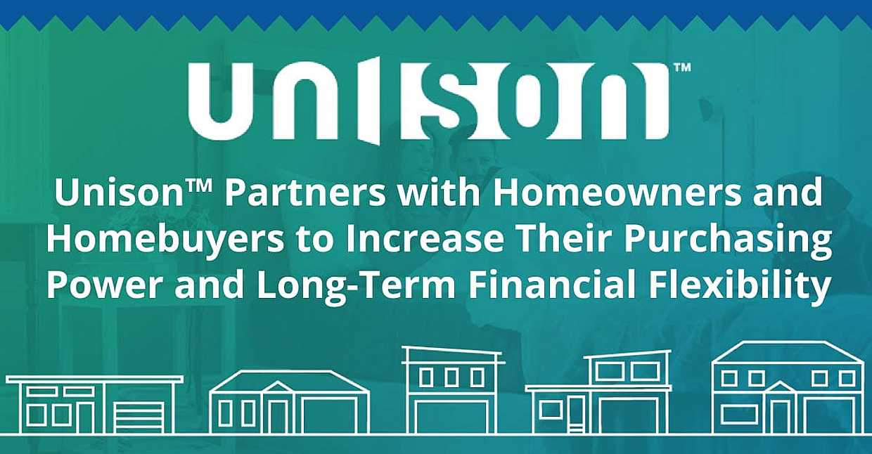 Unison™ Partners with Homeowners and Homebuyers to Increase Their Purchasing Power and Long-Term Financial Flexibility