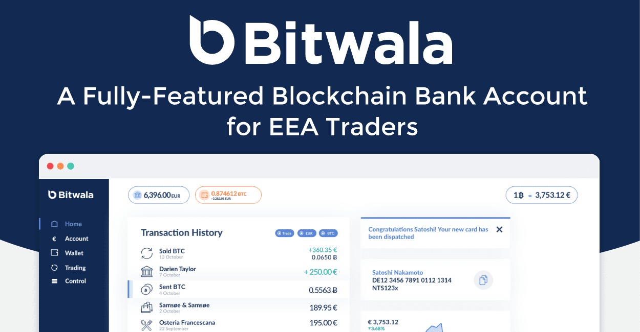 Bitwala's Secure, Fully-Featured Blockchain Bank Account for EEA Traders Focuses on the Present with an Eye Toward the Future