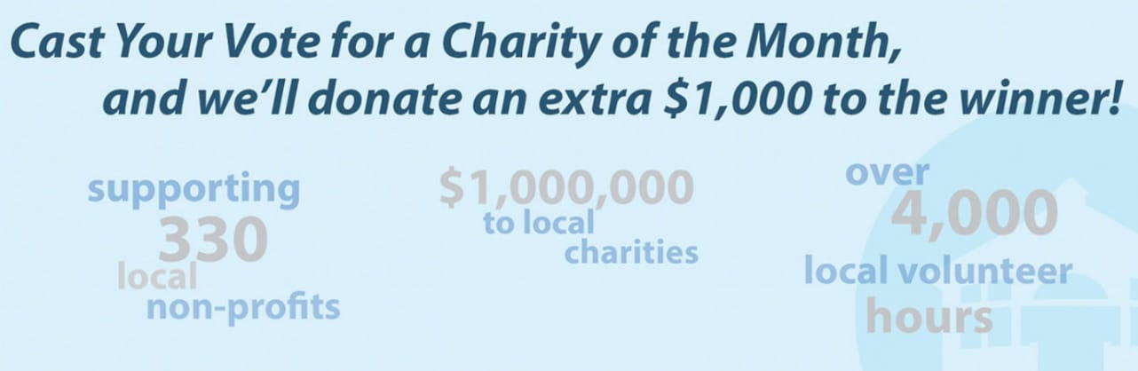 Screenshot of Charity of the Month program