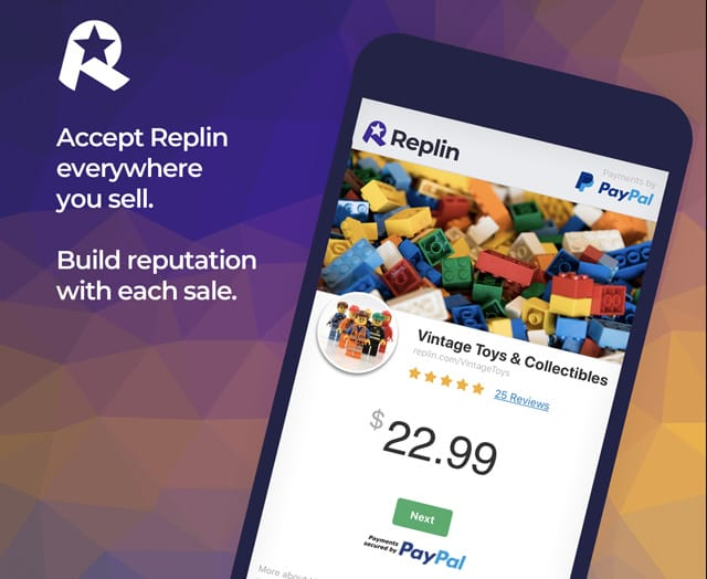 Screenshots of the Replin app on mobile devices