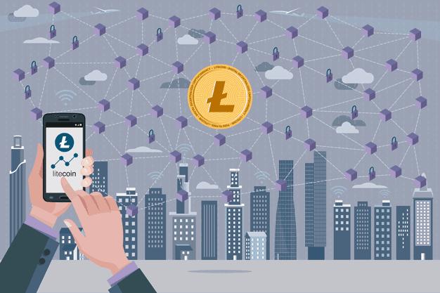 Litecoin Blockchain Graphic