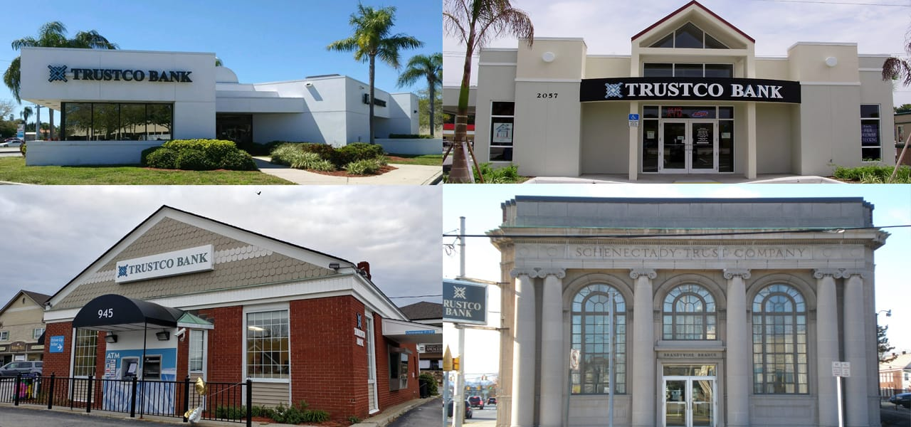 Photo Collage of Trustco Bank Branches