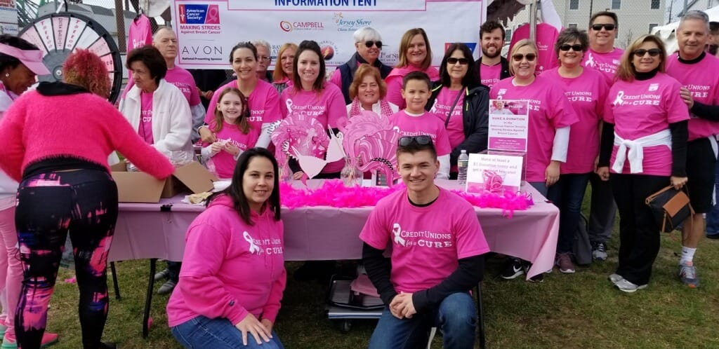 FCU Volunteers Pictured at the 2018 Breast Cancer Walk