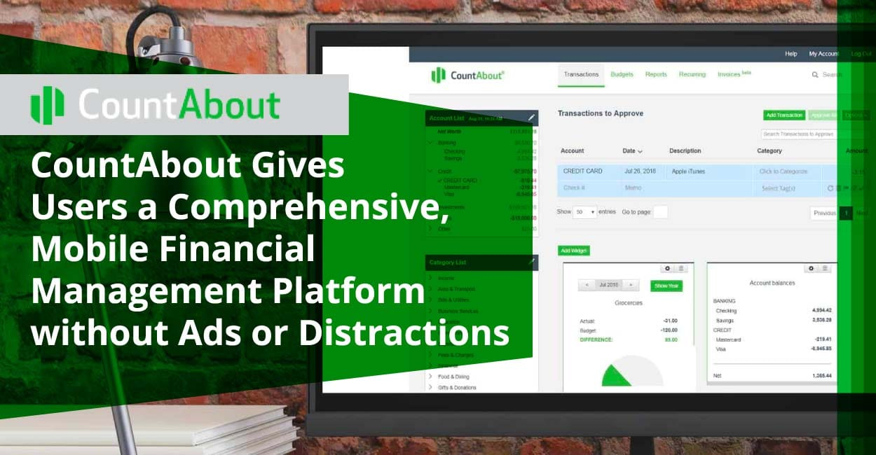 CountAbout Gives Users a Comprehensive, Mobile Financial Management Platform without Ads or Distractions