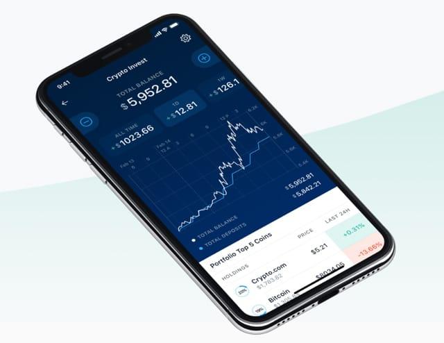 Photo d'une photo avec l'application Crypto Invest