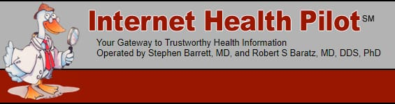 Screenshot of the Internet Health Pilot website