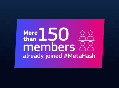 Screenshot from the #MetaHash website