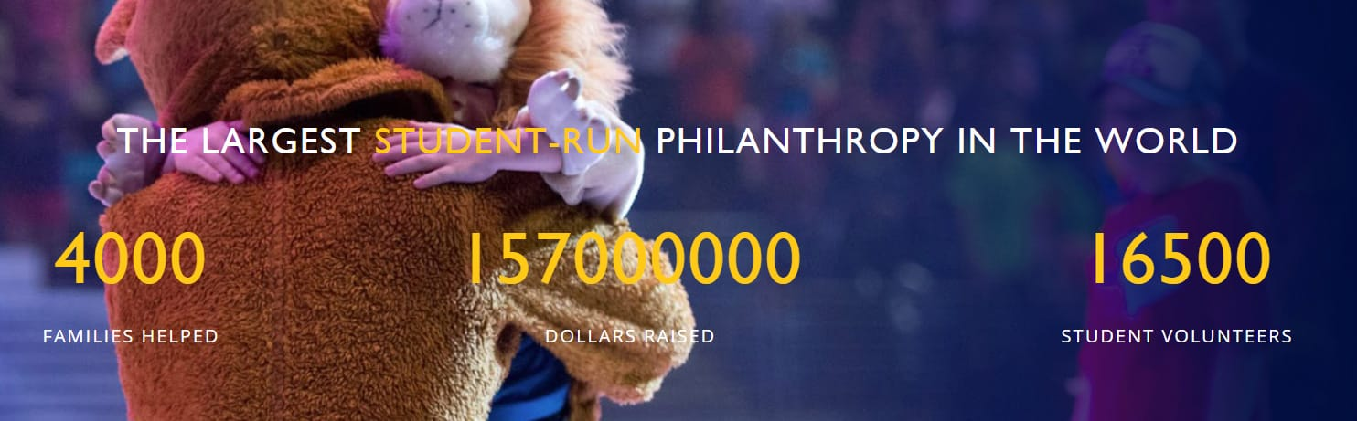 Screenshot from the THON website