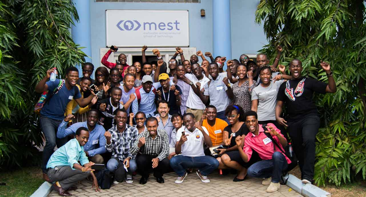 Photo of a group of MEST participants