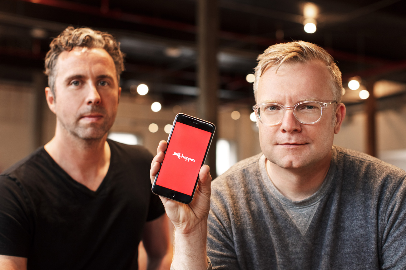 Photo of Hopper Co-Founders Frederic Lalonde, CEO, and Joost Ouwerkerk, CTO