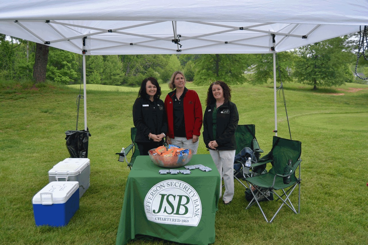 Photo of JSB employees at the 2019 SVFD/John D. Lowe Jr. Memorial Golf Classic