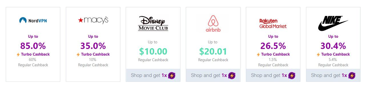 Screenshot of Lemoney retail partners