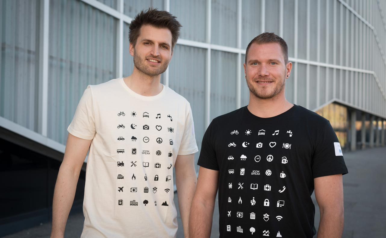 Photo of ICONSPEAK Co-Founders Georg Horn and Florian Nast