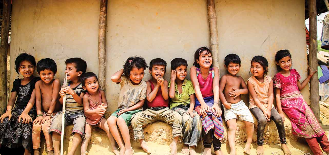 Photo of children helped by One Day's Wages