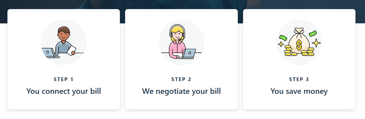 Screenshot of Truebill negotiating process