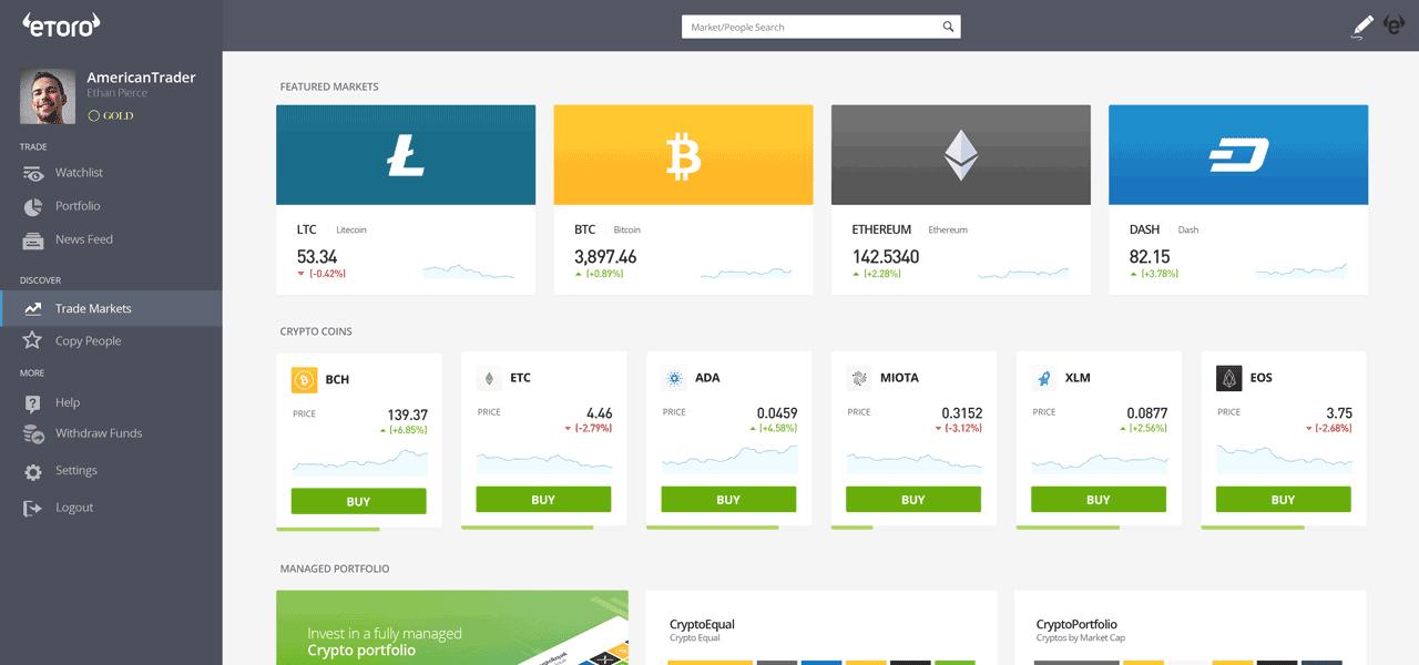 eToro Desktop Market