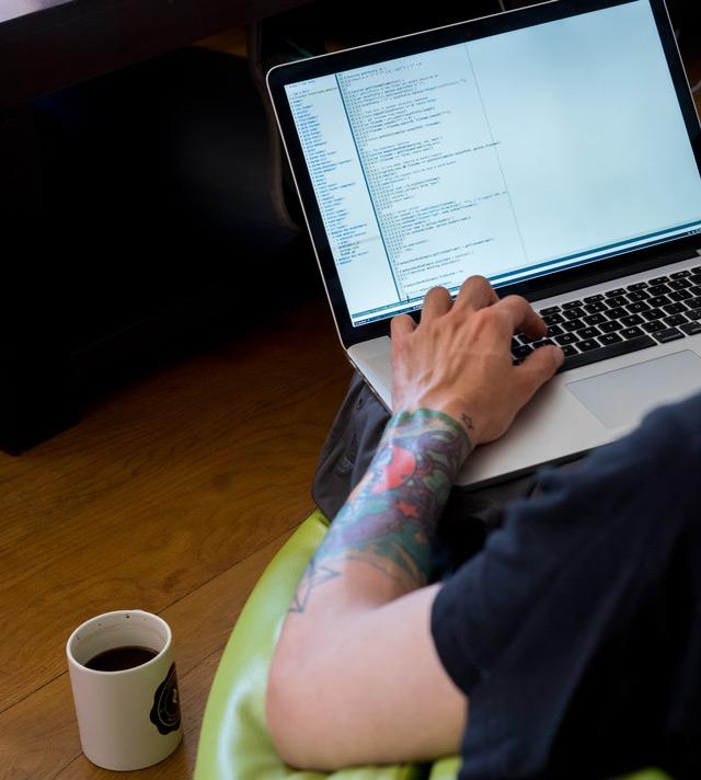 Photo of remote developer