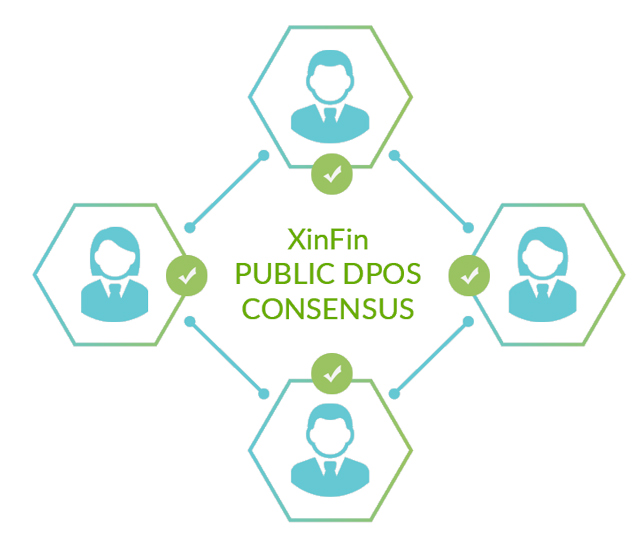 Graphic of XinFin public consensus model