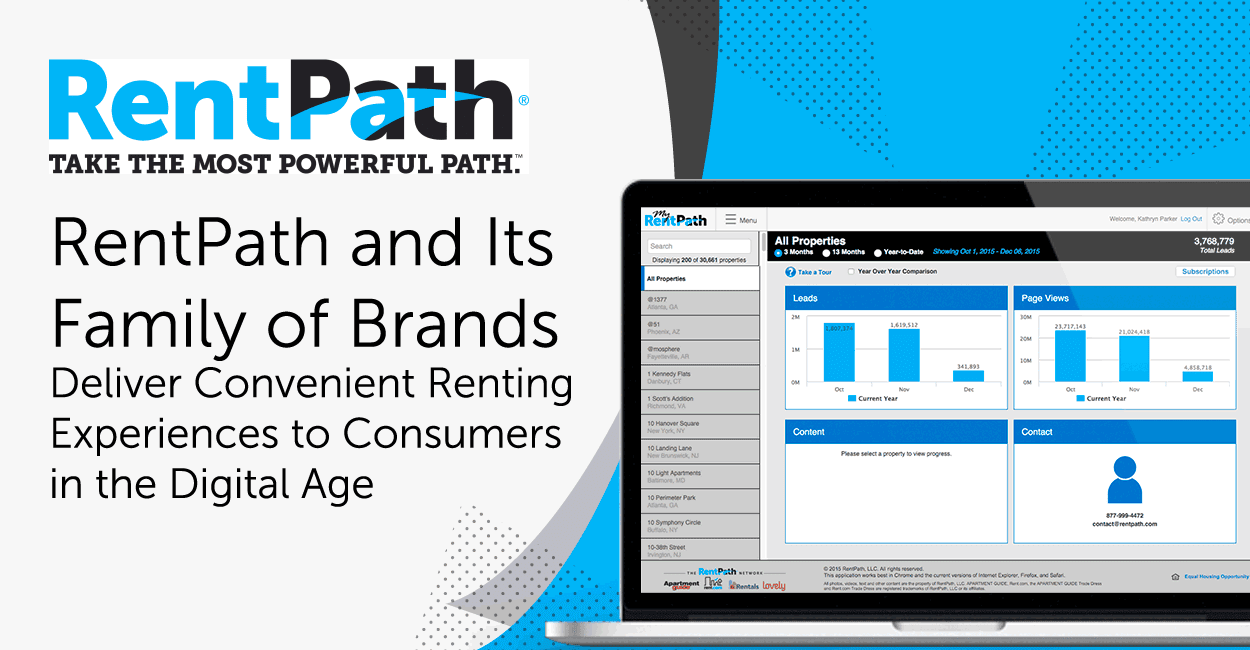 RentPath and Its Family of Brands Deliver Convenient Renting Experiences to Consumers in the Digital Age
