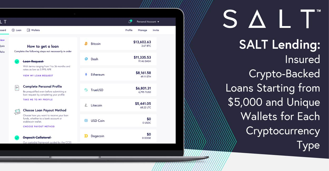 SALT Lending: Insured Crypto-Backed Loans Starting from $5,000 and Unique Wallets for Each Cryptocurrency Type