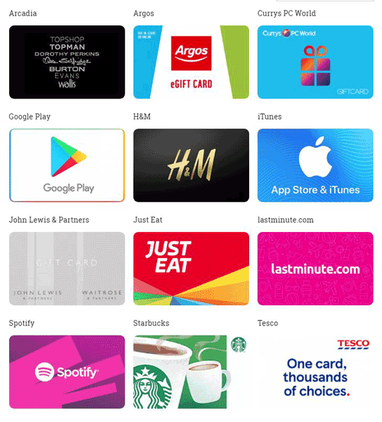 Gift Off Gift Cards