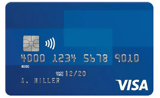 Photo of a Visa Credit Card