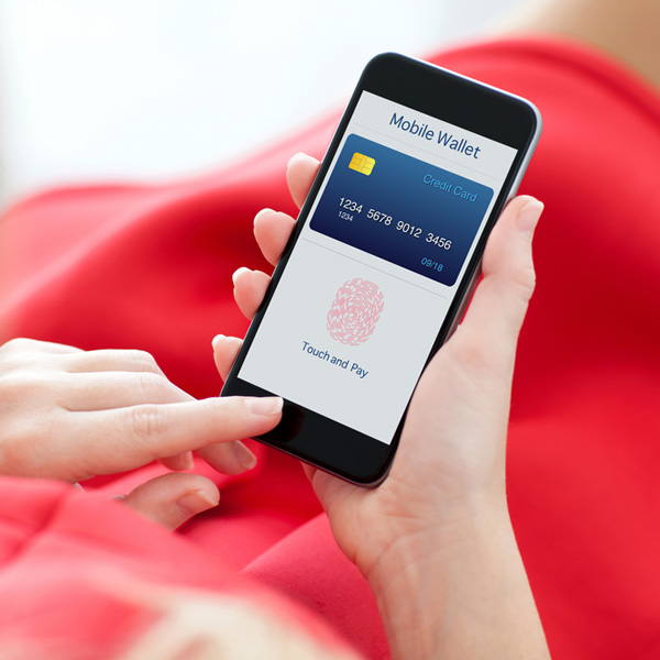 Image of a Mobile Wallet on a Cellphone