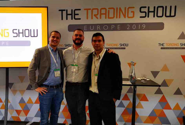 Photo of OptiToken team at The Trading Show Europe 2019