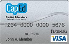 CapEd Credit Union Visa® Platinum Credit Card